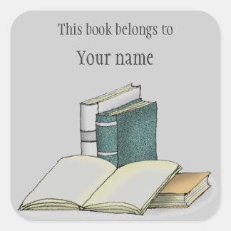 Autocollant personnalisé d'ex-libris