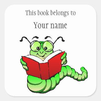 Autocollant personnalisé d'ex-libris de rat de