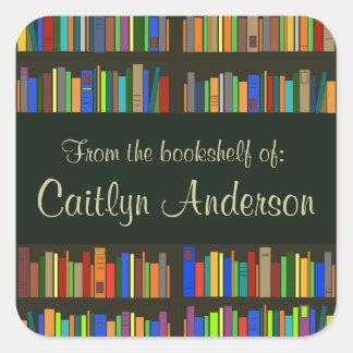 Autocollant personnalisé d'ex-libris d'étagères de