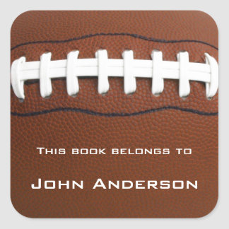 Autocollant personnalisé d'ex-libris du football