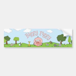 Autocollant porcin de Biggy