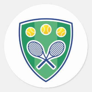 Autocollant pour des joueurs de tennis