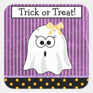 Autocollant pourpre de Halloween de fantôme de
