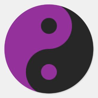 Autocollant pourpre de symbole de Yin Yang