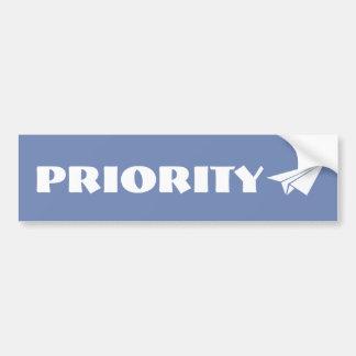 Autocollant prioritaire