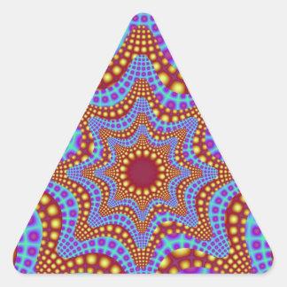 Autocollant psychédélique de triangle de carrousel