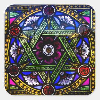 Autocollant religieux de fenêtre en verre teinté