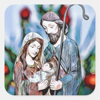 Autocollant religieux de Noël de Jésus, de Joseph