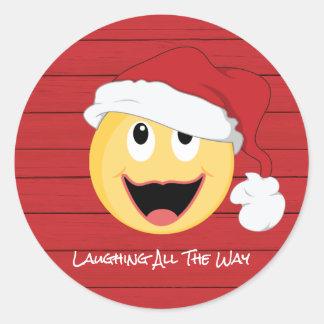 Autocollant riant de Père Noël Imoge