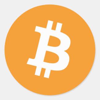 Autocollant rond de Bitcoin
