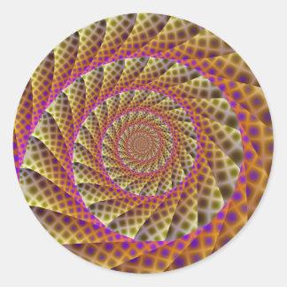 Autocollant rond de spirale de peau de léopard