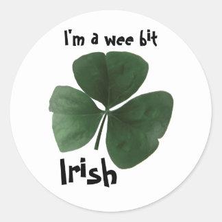Autocollant rond irlandais