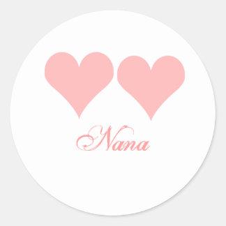 Autocollant rose de coeurs de Nana