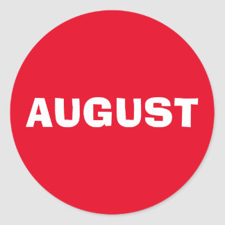 Autocollant rouge à discrétion d'août par Janz