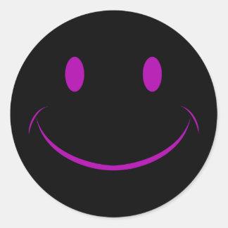 Autocollant souriant noir de visage