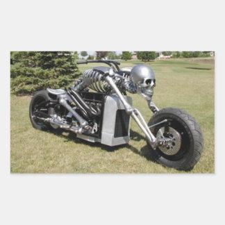 Autocollant squelettique de moto de style