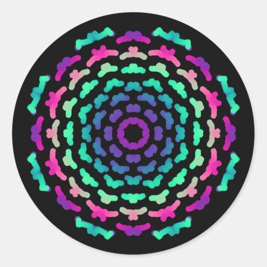 Autocollant Thème Mandala couleurs