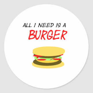 Autocollant univers I need is a Burger