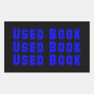 Autocollant utilisé de livre