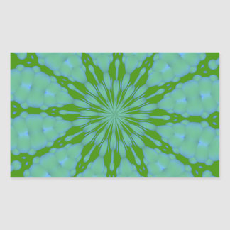 Autocollant vert de rectangle de zen de bulle