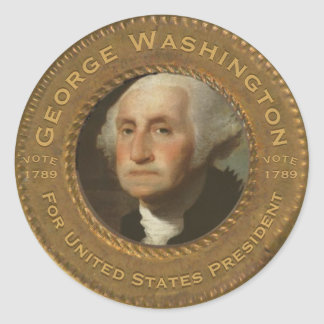 Autocollant vintage de regard de George Washington