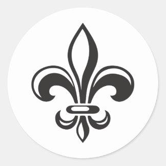 Autocollant x20 Fleur de lys français moderne noir