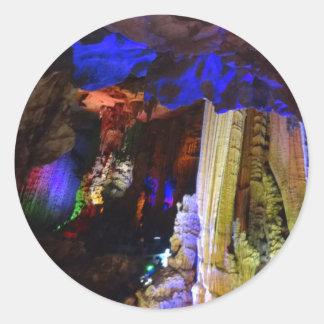 Autocollants #2-1 argentés de caverne (Guilin,