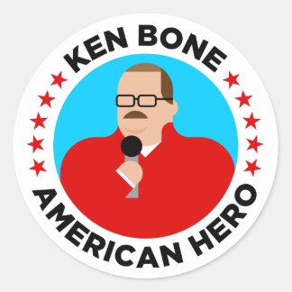 Autocollants américains de héros d'os de Ken