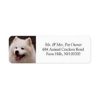 Autocollants blancs mignons d'étiquettes postales étiquette d'adresse retour