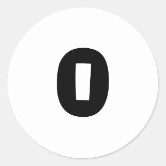 Autocollants blancs ronds de 0 petits nombres par