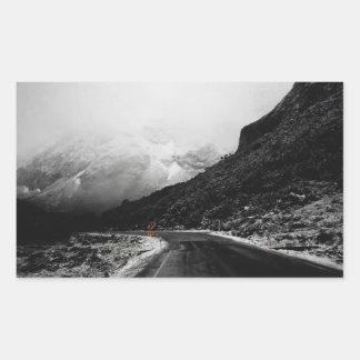 Autocollants brumeux de photo de paysage de route