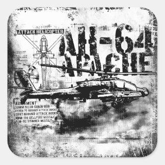 Autocollants carrés d'AH-64 Apache