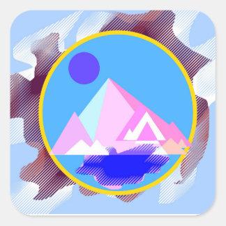 """Autocollants carrés de """"montagne"""""""