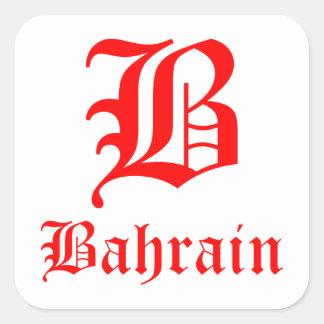 Autocollants carrés du Bahrain