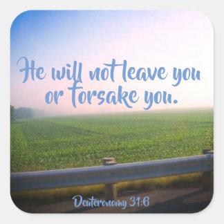 Autocollants chrétiens d'écriture sainte de 31:6