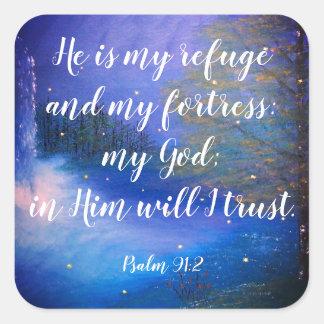 Autocollants chrétiens d'écriture sainte de 91:2