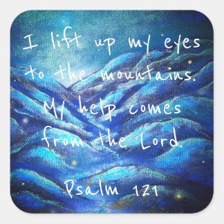 Autocollants chrétiens d'écriture sainte du psaume