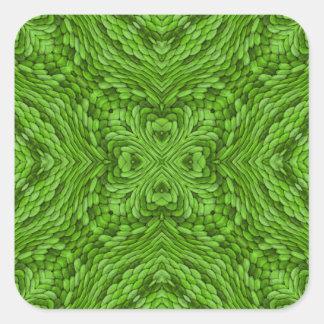 Autocollants colorés verts allants