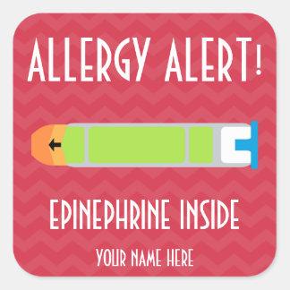Autocollants d'alerte d'allergie d'adrénaline