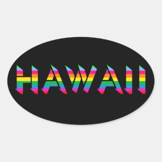 Autocollants d'arc-en-ciel d'Hawaï
