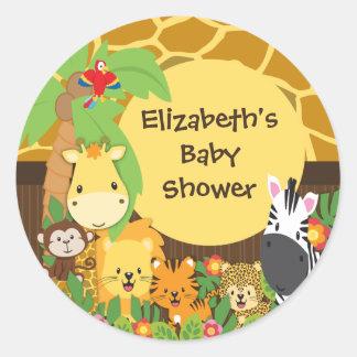 Autocollants de baby shower d'animaux de bébé de
