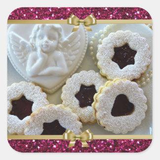 Autocollants de biscuits de gelée de Noël