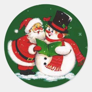 Autocollants de bonhomme de neige de Père Noël