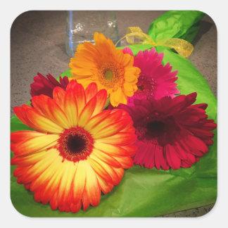 Autocollants de bouquet de marguerite