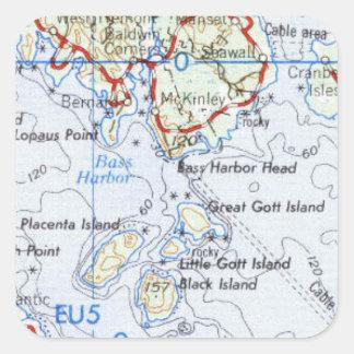 Autocollants de carte d'île de Gotts