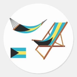 Autocollants de chaises des Bahamas