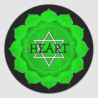 Autocollants de Chakra de coeur