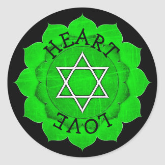 Autocollants de Chakra de vert de Chi d'amour de