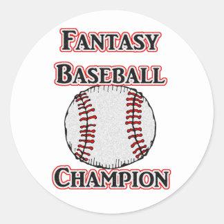 Autocollants de champion de base-ball d'imaginaire