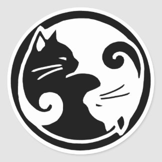 Autocollants de chats de Yin Yang